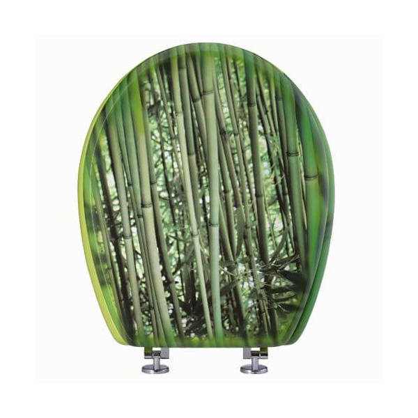 lunette abattant wc d co bambou siamp 002489. Black Bedroom Furniture Sets. Home Design Ideas