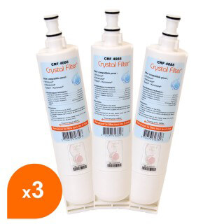 Filtre Crystal Filter® 4396508 CRF4088 compatible Whirlpool®  (lot de 3)