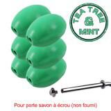 """Savon vert rotatif """"Tea Tree and Mint"""" Provendi (lot de 6) - Recharge à écrou"""