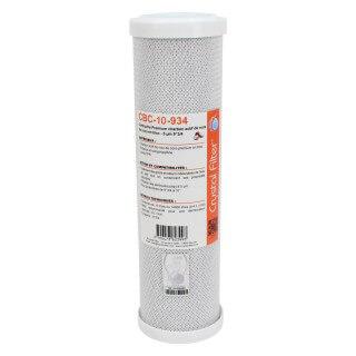 Cartouche CBC-10-934 Premium charbon actif 9''3/4 - 10 µm - Crystal Filter®