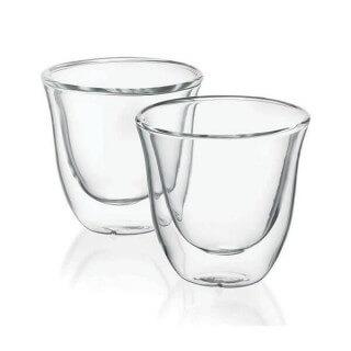 Tasse Expresso Delonghi en verre (lot de 2)