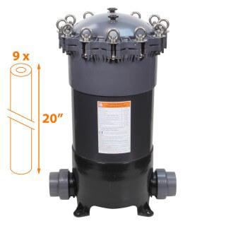 Carter multi-cartouches FHPVC-20x9-B Crystal Filter® - 9 x 20 pouces