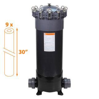 Carter multi-cartouches FHPVC-30x9-B Crystal Filter® - 9 x 30 pouces