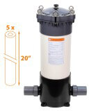 Filtre multi-cartouches FHPVC-20x5-B2 Crystal Filter® - 5 x 20 pouces