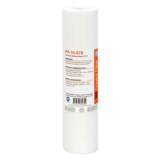 Cartouche PP-10-978 sédiment SPUN 9''7/8 - Filtre 10 µm - Crystal Filter®