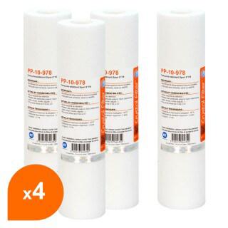 Cartouche PP-10-978 sédiment SPUN 9''7/8 - Filtre 10 µm - Crystal Filter® (lot de 4)