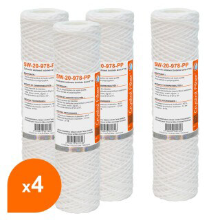 Cartouche SW-20-978-PP sédiment bobinée 9''7/8 - Filtre 20 µm - Crystal Filter® (lot de 4)