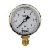 Manomètre inox - Insert laiton - 0-6 bars ø 50 - 1/4'' - Radial /  Glycérine
