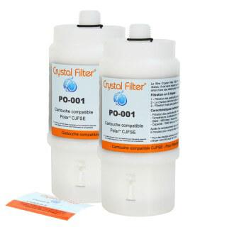 Filtre PO-001 compatible CJFSE pour filtre sous évier Polar™ FSE / FSE2 - Crystal Filter® (lot de 2)