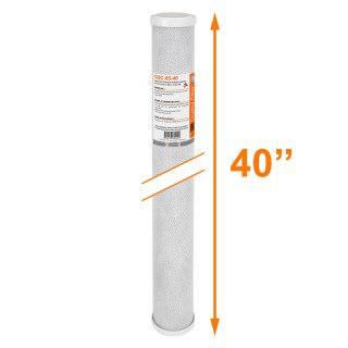 Cartouche CBC-05-40 Premium charbon actif 40'' - 5 µm - Crystal Filter®