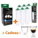 Filtre à eau compatible Jura Blue + Détartrant + Tasses à café offertes