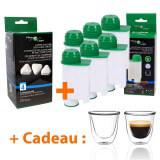 Filtre à eau compatible Cartouche compatible Saeco Intenza + + Détartrant + Tasses à café offertes