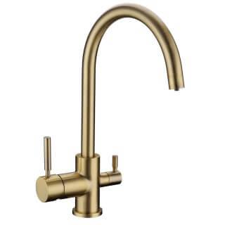 robinet col de cygne 3 voies biscayne bronze 007195. Black Bedroom Furniture Sets. Home Design Ideas