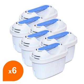 Filtre carafe filtrante Filter Logic FL-402E - Cartouche compatible Brita® Maxtra+® (lot de 6)