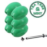 Savon vert rotatif ''Tea Tree and Mint'' Provendi (lot de 6) - Recharge à écrou
