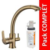 Robinet 3 voies Everglades Bronze + Kit de filtration QCF-3001/321 - PROMO