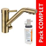 Robinet 3 voies Samoa Bronze + Kit de filtration QCF-3001/321 - PROMO