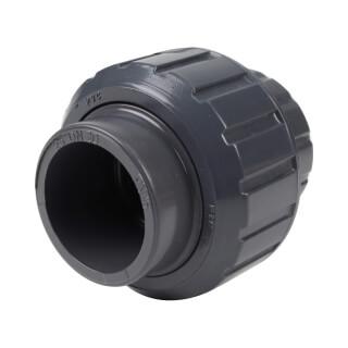 Union trois pièces mixte - 25 mm Femelle à coller - Taraudée femelle 3/4'' - PVC Pression