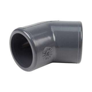 Coude 45° FF - 25 mm  - Femelle à coller - PVC pression