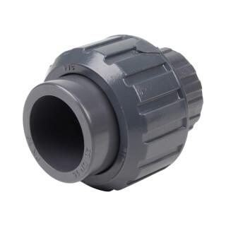 Union trois pièces - 20 mm - Femelle à coller - PVC Pression