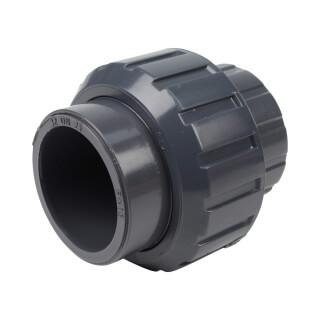 Union trois pièces - 32 mm - Femelle à coller - PVC Pression