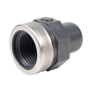 Embout mixte - 20/16 mm - Mâle/Femelle à coller - Taraudé 1/2'' - PVC Pression