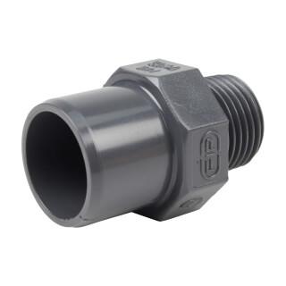 Embout mixte - 25/20 mm - Mâle/Femelle à coller - Fileté 1/2'' - PVC Pression