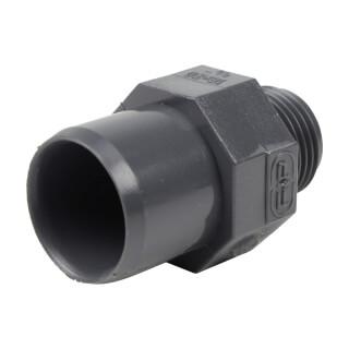 Embout mixte - 20/16 mm - Mâle/Femelle à coller - Fileté 3/8'' - PVC Pression