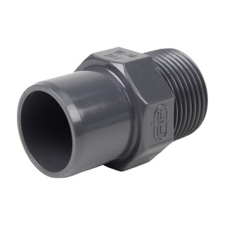 Embout mixte - 25/20 mm - Mâle/Femelle à coller - Fileté 3/4'' - PVC Pression