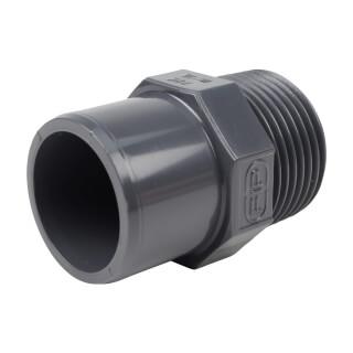 Embout mixte - 32/25 mm - Mâle/Femelle à coller - Fileté 1'' - PVC Pression
