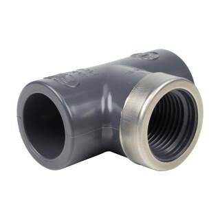 Té mixte 90° - 20 mm Femelle à coller / Femmelle taraudé 1/2'' - PVC Pression