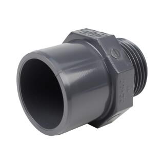 Embout mixte - 40/32 mm - Mâle/Femelle à coller - Fileté 1'' - PVC Pression