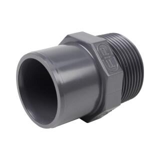 Embout mixte - 40/32 mm - Mâle/Femelle à coller - Fileté 1'1/4' - PVC Pression
