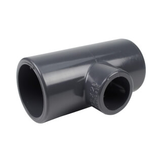 Té réduit 90° - 32/20 mm - Femelle à coller - PVC Pression