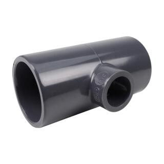 Té réduit 90° - 40/20 mm - Femelle à coller - PVC Pression