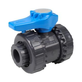 Vanne piscine - 16 mm - Femelle à coller - Joint EPDM - PVC pression