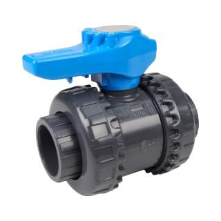 Vanne piscine - 32 mm - Femelle à coller - Joint EPDM - PVC pression