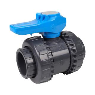 Vanne piscine - 40 mm - Femelle à coller - Joint EPDM - PVC pression