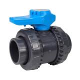 Vanne piscine - 50 mm - Femelle à coller - Joint EPDM - PVC pression