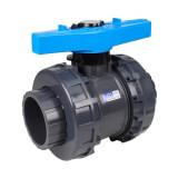 Vanne piscine - 75 mm - Femelle à coller - Joint EPDM - PVC pression