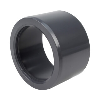 Réduction incorporée - 75/63 mm - Mâle/Femelle à coller - PVC Pression