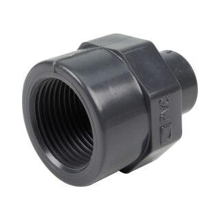 Embout mixte - 20/16 mm - Mâle/Femelle à coller - Taraudé 3/4'' - PVC Pression