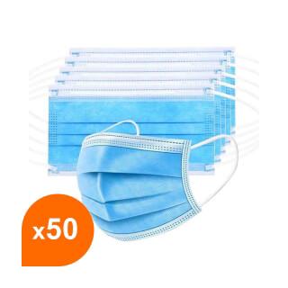 Masque jetable 3 couches (lot de 50)