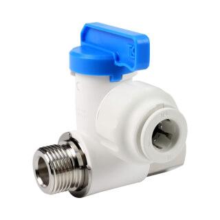 Prise d'eau 3/8'' M/F avec robinet pour tube 3/8''