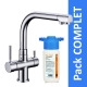 Robinet 3 voies Denali Chrome + Kit de filtration HRC-WM2000/201