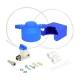 Robinet 3 voies Denali Nickel brossé + Kit de filtration HRC-WM2000/201