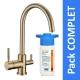 Robinet 3 voies Biscayne Bronze + Kit de filtration HRC-WM2000/201