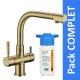 Robinet 3 voies Denali Bronze + Kit de filtration HRC-WM2000/201