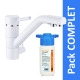 Robinet 3 voies Samoa Blanc + Kit de filtration HRC-WM2000/201