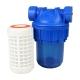 Filtre à eau 3 pièces 5'' avec cartouche lavable 50 µm